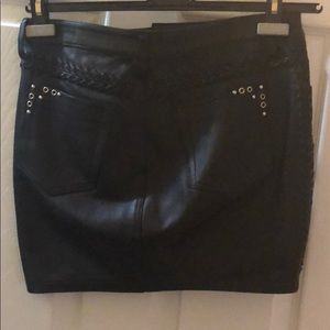 IRO Skirts - Iro leather studded mini skirt